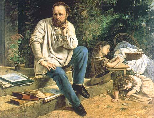 """""""Proudhon et ses enfants"""" par Gustave Courbet"""